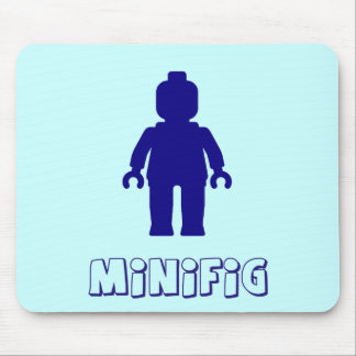 Minifig Dark Blue by Customize My Minifig Mousemat