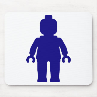 Minifig Dark Blue by Customize My Minifig Mousepad