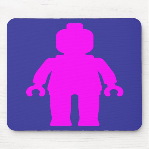 Minifig [Dark Pink] by Customize My Minifig Mousepad