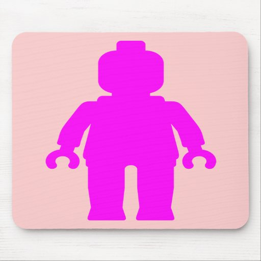 Minifig [Dark Pink] by Customize My Minifig Mousepads