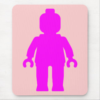 Minifig Dark Pink by Customize My Minifig Mousepads