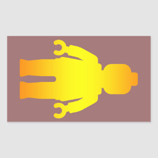 Minifig [Golden] by Customize My Minifig Rectangular Sticker