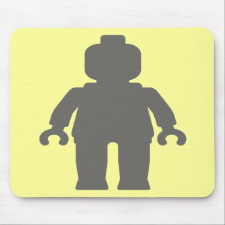 Minifig [Large Dark Grey] by Customize My Minifig Mouse Pad