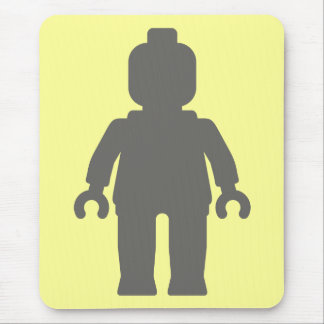 Minifig Large Dark Grey by Customize My Minifig Mouse Pad