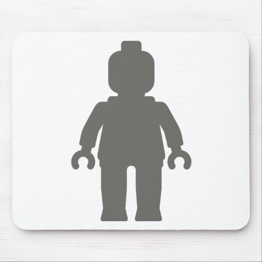 Minifig [Large Dark Grey] by Customize My Minifig Mouse Mats