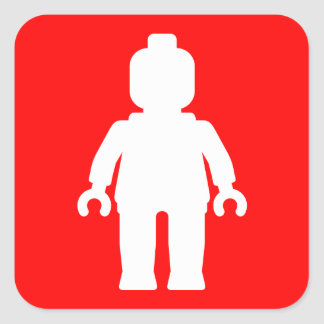 Minifig White by Customise My Minifig Sticker