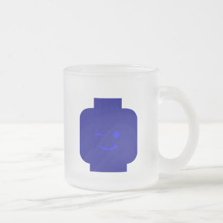 Minifig Winking Head by Customize My Minifig Frosted Glass Mug