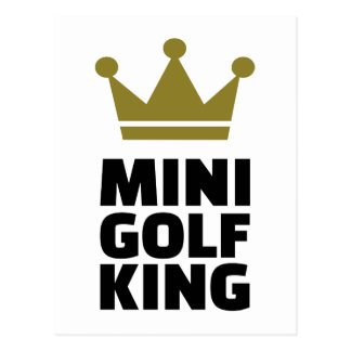 Minigolf King Postcard