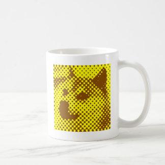 Minimal/abstract doge coffee mug