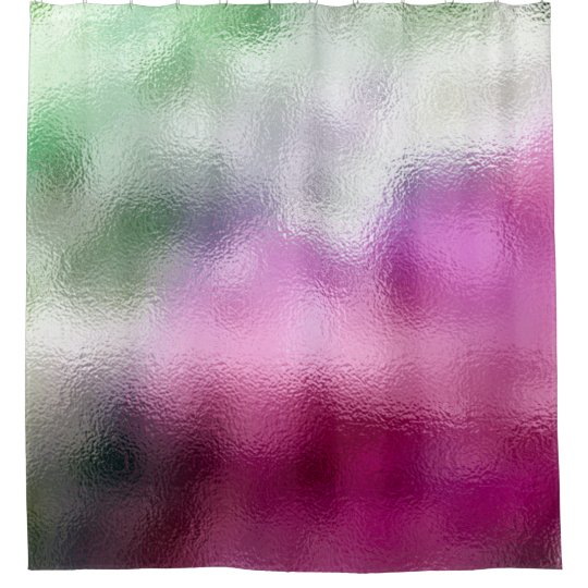 Minimal Abstract Glass Mint Green Pink Tropical Shower