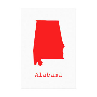 Minimal Alabama United States Canvas Print