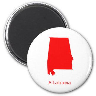 Minimal Alabama United States Magnet
