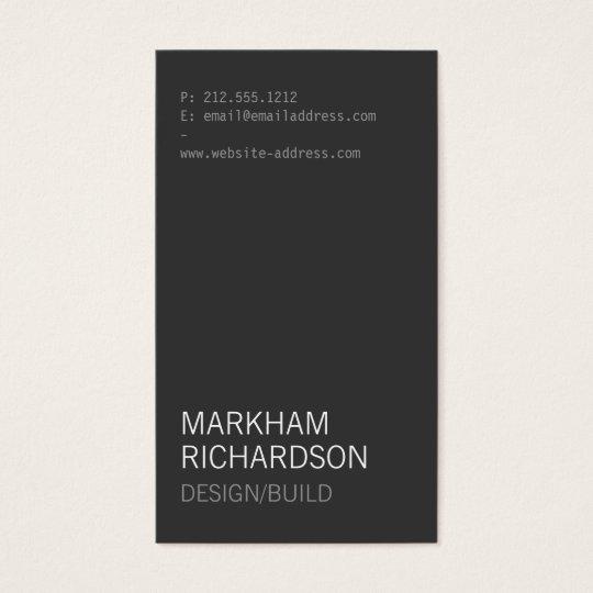 Minimal and Modern Dark Grey Business Card