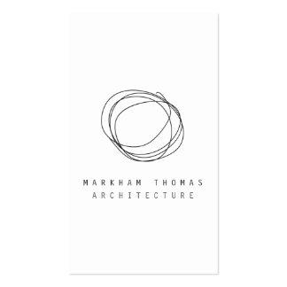 Minimal and Modern Designer Scribble Logo Pack Of Standard Business Cards