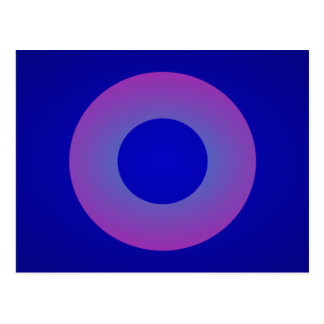 Minimal Art Ring Dark Blue Background Postcard
