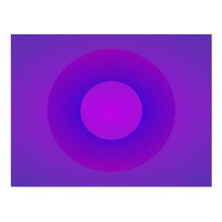 Minimal Art Ring Purple Background Postcard