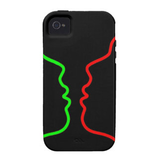 Minimal Art - Sensual MISS, Lets have a KISS Vibe iPhone 4 Cover