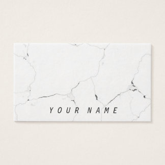 Minimal B&W Cool Marble Sleek Classy Business Card