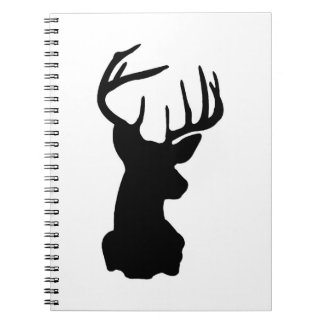 Minimal Black & White Stag Head Notebooks