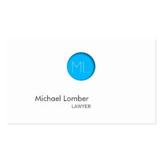 Minimal Blue Dot Monogram Business Card