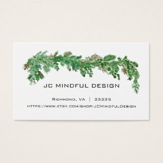 Minimal Business Card Greenery Theme