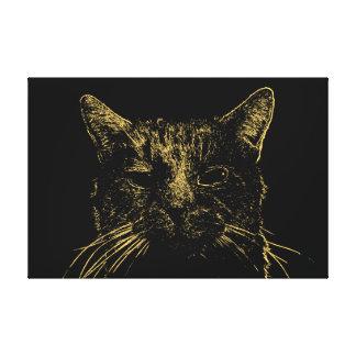 Minimal Cat Canvas
