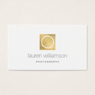 Minimal Circle Camera Lens Gold Photography Logo