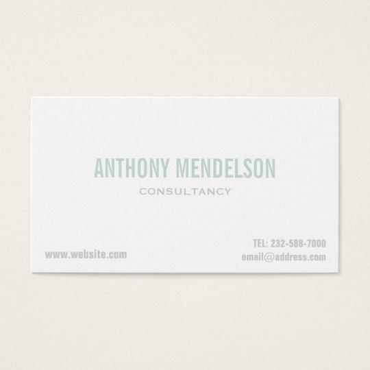 Minimal clean white business card