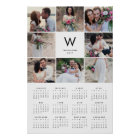 Minimal Collage 16x24 2017 Yearly Photo Calendar Poster