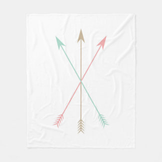 Minimal Colored Arrows Fleece Blanket