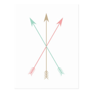 Minimal Colored Arrows Postcard