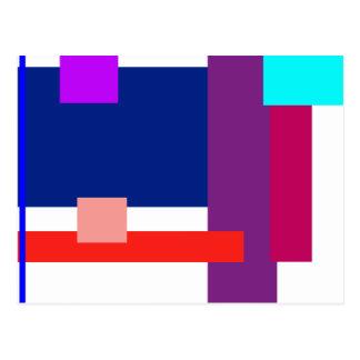 Minimal Colored Rectangles Postcard