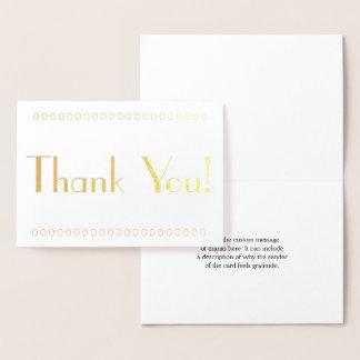 "Minimal, Customizable ""Thank You!"" Card"