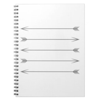 Minimal Dark Gray Arrows Notebook