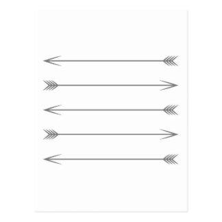 Minimal Dark Gray Arrows Postcard
