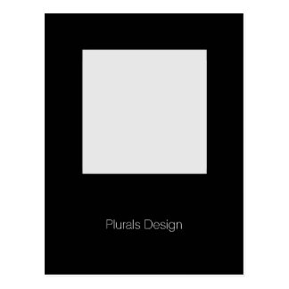 Minimal Design Photo Frame postcard