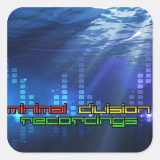 Minimal Division Recordings Square Sticker