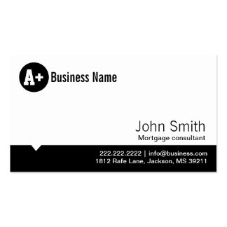 Minimal Dot Mortgage Agent Business Card