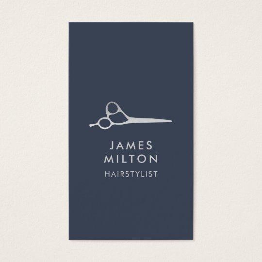 Minimal Elegant Blue Light Grey Hair Stylist Business