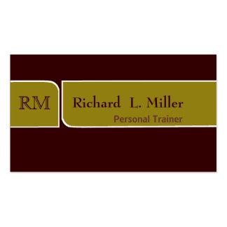Minimal  Elegant Sage & Brown Double Edge Bands Pack Of Standard Business Cards