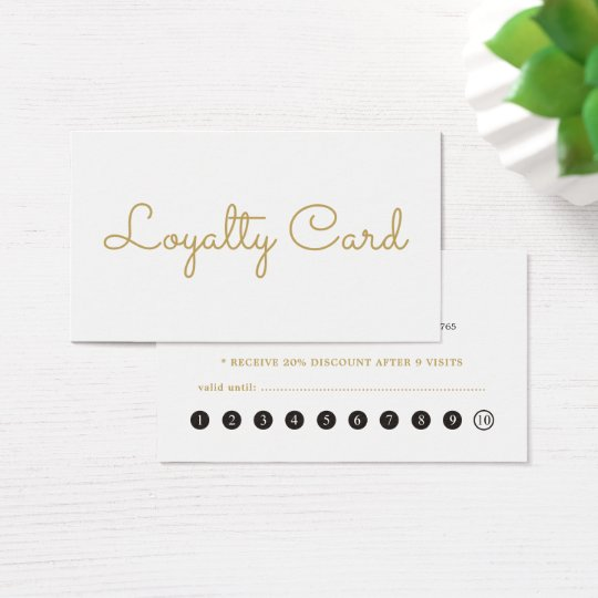 Minimal Elegant White Beauty Salon Loyalty Card