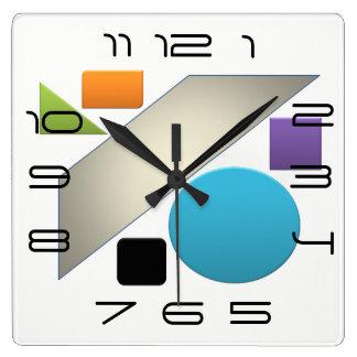 Minimal Geometric Avant-Garde Bright Clocks