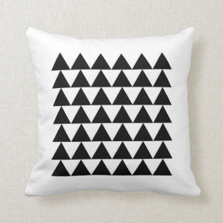Minimal Geometric Triangle Pattern Cushion