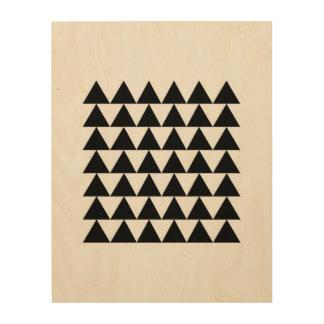 Minimal Geometric Triangle Pattern Wood Print