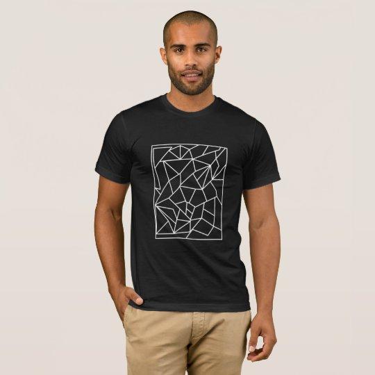 Minimal Geometric - White Line T-Shirt