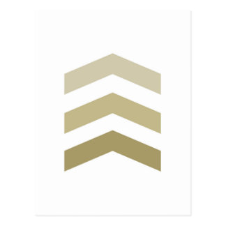 Minimal Gold Chevrons Postcard