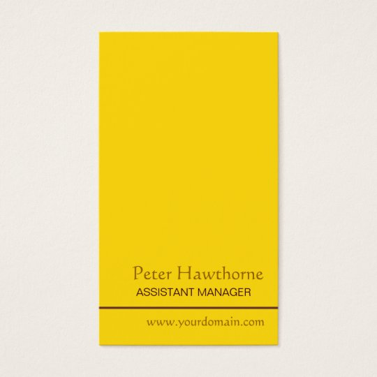 Minimal Gold Minimalist Profession Personal Business Card