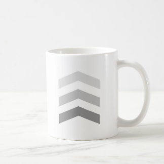 Minimal Gray Chevrons Coffee Mug