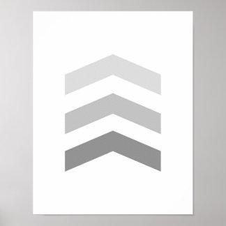 Minimal Gray Chevrons Poster