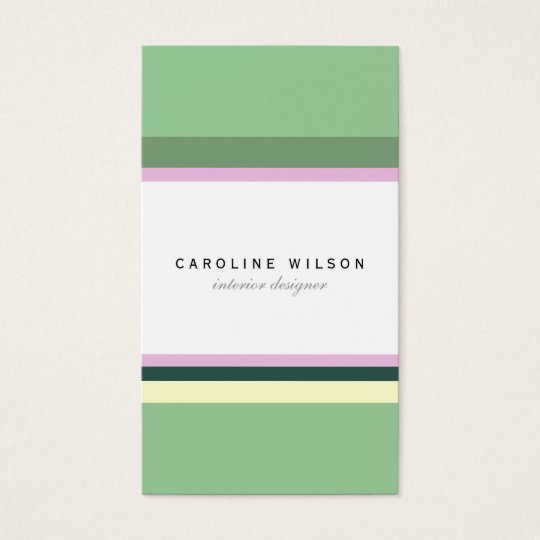 Minimal green pink lines colorful elegant classy business